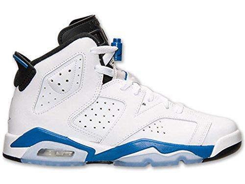 Nike - Air Jordan 6 Retro Bg, Scarpe sportive Bambino Multicolore (Blanco / Azul / Negro (White / Sport Blue-Black))