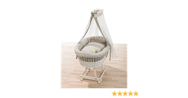 Alvi set für stubenwagen birthe birds beige 80x80 cm: amazon.de: baby