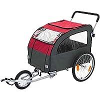 Duradero y multifuncional remolque para bicicleta de perro con Kit de Jogging–adecuado para perros de hasta 40kg–Ideal forma de tomar su perro en ya bicicleta Rides o Excursiones