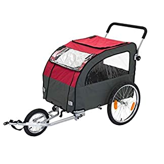 Durable and Multi-Functional Dog Bike Trailer with Jogging Kit – Suitable for Dogs Up to 40kg – Ideal Way to Take your Dog On Longer Bike Rides or Tours 41UxBwvB2vL
