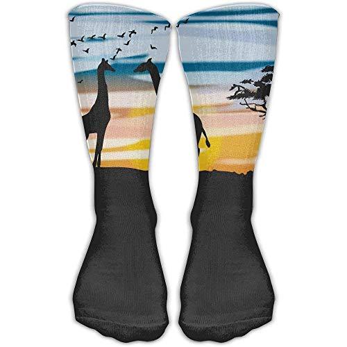 Bag shrots Cotton Acacia Tree And Giraffe Casual Socks Crew Socks (Womens Bamboo Riding Boots)