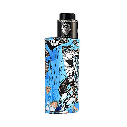 Electronic Cigarette Vapor Storm ECO Pro Box Mod ABS Vape 5-80W Variable Power TC 510 Thread Lion RDA DIY Coil Starter Kit Blue without 18650 Battery Nicotine Free (Diy Box Mod)