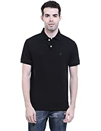 CHKOKKO Two Button Half Sleeves Polo Cotton T Shirts For Men