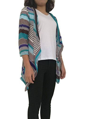 donna-loose-irregolari-stripe-scialle-kimono-cardigan-top-cover-up-camicetta-blue-small