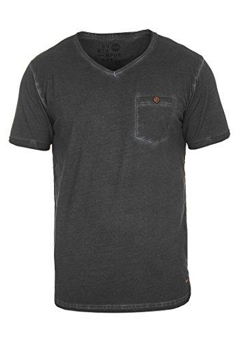!Solid Tinny Herren T-Shirt Kurzarm Shirt mit V-Ausschnitt Aus 100% Baumwolle, Größe:M, Farbe:Black (9000) -
