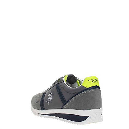 U.S.POLO ASSN. Scarpe Uomo US Polo Sneaker Running Tommy Pelle Scamosciata/Tessuto White/Gray US18UP01 DK.GREY
