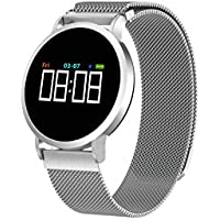 SLGJYY Smart Reloj de Pulsera Pantalla a Color Corazón Frecuencia Tensiómetro de Sangre Oxígeno Bluetooth Deportes.