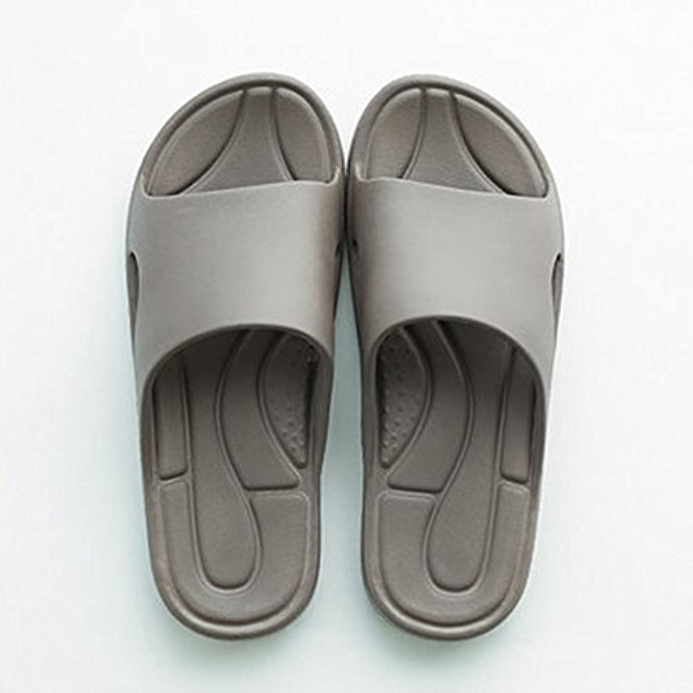 Cómodo Inicio baño deslizante baño con zapatillas Casa femenina con cuatro estaciones de fondo suave pantuflas...