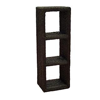 Artra Regal-Turm - braun, hoch oder quer zu verwenden Büro Flur Regal Wandregal Sideboard 123 cm