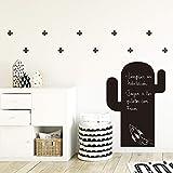 Adesivi Murali da Parete Lavagna da Gesso | Sticker Decorativi per Stanza dei Bambini | Cactus