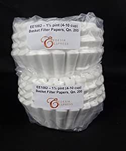 EDESIA ESPRESS - 400 filtri scanalati in carta per caffè americano - 75/180mm - 4-10 tazze