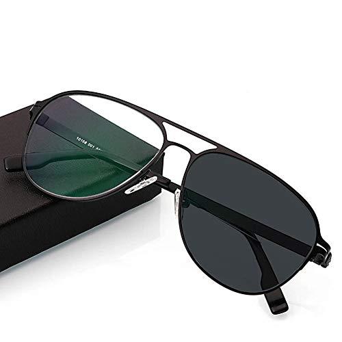 Ultra Lesebrille für Männer und Frauen/Smart Photochromic Sunglasses/Ältere Lesebrille,Black,+250