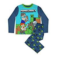 Minecraft Steve and Creeper Long Sleeve Boy