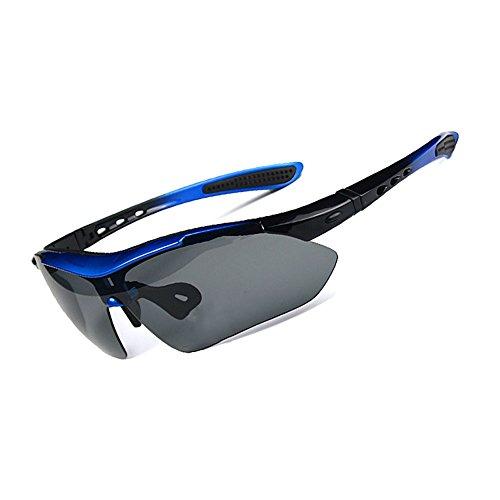Sport-Sonnenbrille für Männer, Frauen, polarisierte UV400-Schutz unzerbrechliche Brille, Radfahren Reiten Fahren Angeln Golf Baseball und andere Outdoor-Aktivitäten, 5 Linsen ( Color : RED )