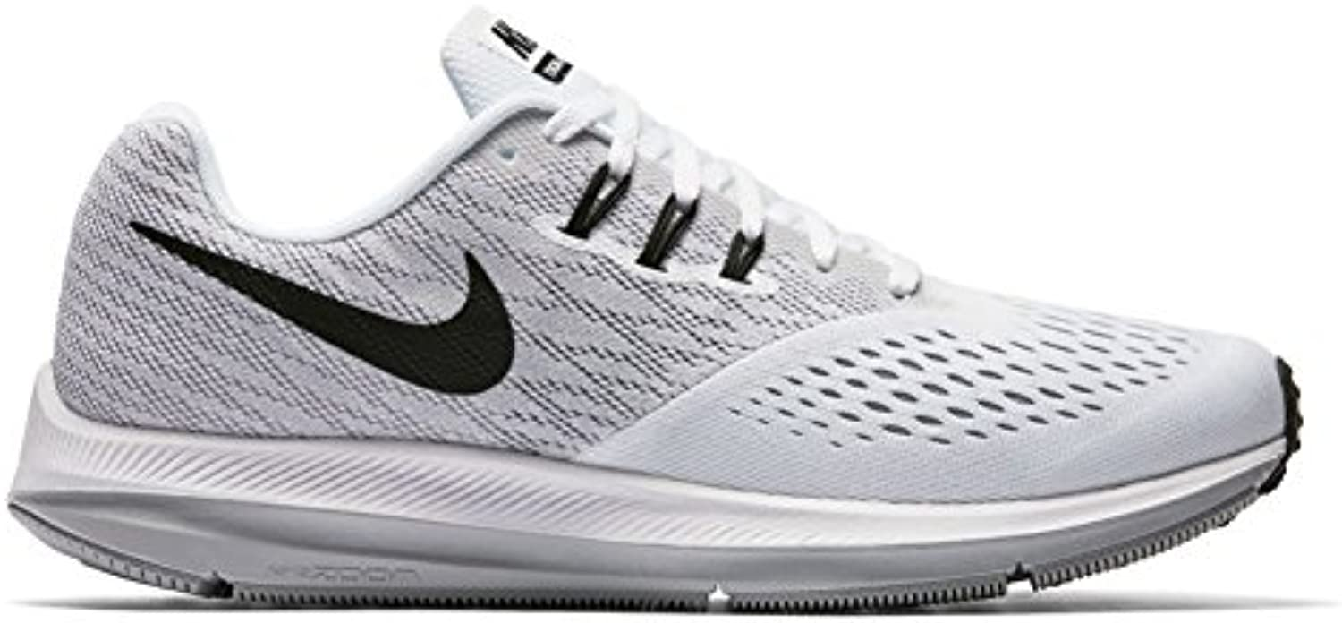 NIKE Zoom Winflow 4, Men's White/Black/Wolf Grey, Size 8.5 D(M) US