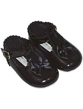 Baby Schuhe zur Taufe, für Mädchen, Größen 0 und 4), Weiß, Pink, Rot, Schwarz, elfenbeinfarben