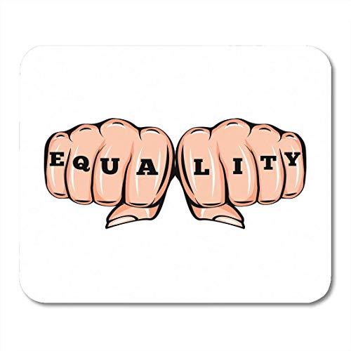 Almohadillas para mouse Mujer Igualdad en el tatuaje Feminismo Puños femeninos Movimiento de chica feminista Mousepad para computadora portátil, Computadoras de escritorio Accesorios Mini Suministros