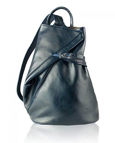 LeahWard Frauen Soft Geniune Leder Rucksack 244 (Dunkelblau Tasche)