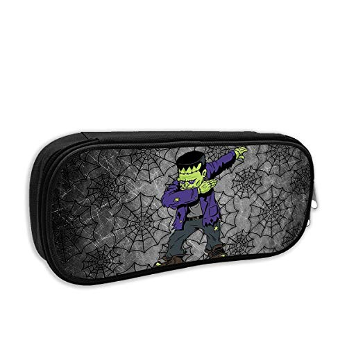 Dabbing Frankenstein Funny Halloween Monsters Kids Pencil Case Pouch Bag Multifunction Cosmetic Makeup Bag School Office Storage Organizer