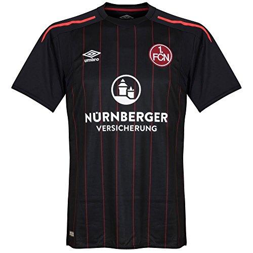 UMBRO Erwachsene Fc Nurnberg 3rd Ss Team Jersey, schwarz, S