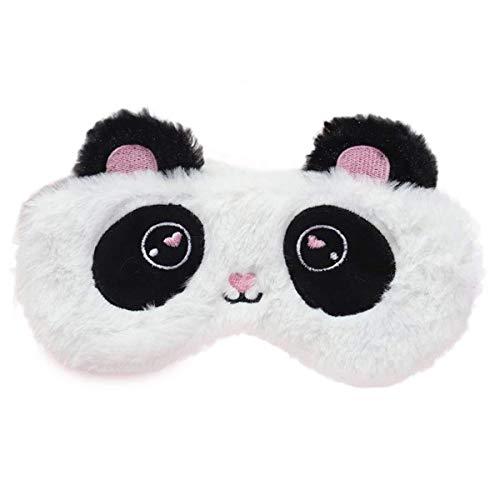Yeying Schlafmaske Nette Panda Schlafmaske Weichem Plüsch Augenbinde Lustige Neuheit Schlafmaske Augenmaske Eyeshade for Mädchen Jungen Frauen Männer Kinder Home Travel