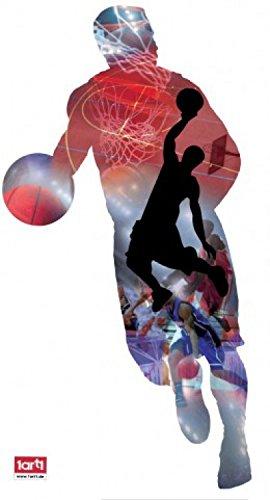 1art1 63580 Basketball - Spieler, Dribbling Und Wurf Wand-Tattoo Aufkleber Poster-Sticker 60 x 35 cm