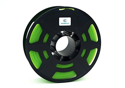 Kaisertech Filament für 3D Drucker 1kg PLA 1,75mm Limette - Premium Qualität Spule Rolle