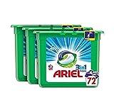 Ariel 3en1 Pods - Cápsulas, Alpine, 72Lavados (3 x 24)