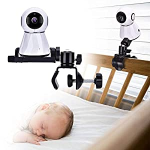 Eurobuy Baby Camera Monitor Mount, 360 Degrees Rotatable Adjustable Holder, Keep Your Baby in Sight, Suitable for Most Baby Monitors Equipment   10