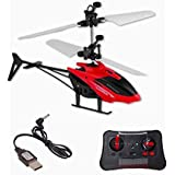 JSR & Company® Induction Flight Electronic Radio RC Remote Control Toy Charging Helicopter Toys with 3D Light Toys for Boys Kids (Indoor Flying) Colors as per Stock