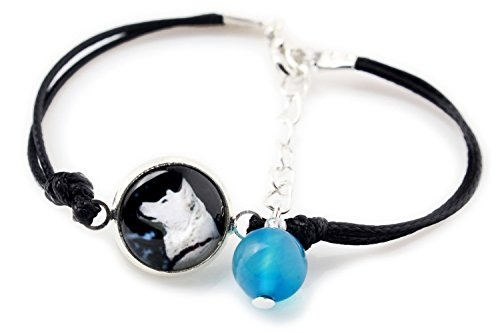 ArtDog Ltd. Akita Inu, Armband für Menschen, die Hunde Lieben, Foto Schmuck, Handgefertigt (Foto Akita-hund)