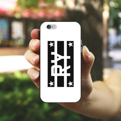 Apple iPhone X Silikon Hülle Case Schutzhülle Ryole Fanartikel Merchandise Schwarz Silikon Case schwarz / weiß