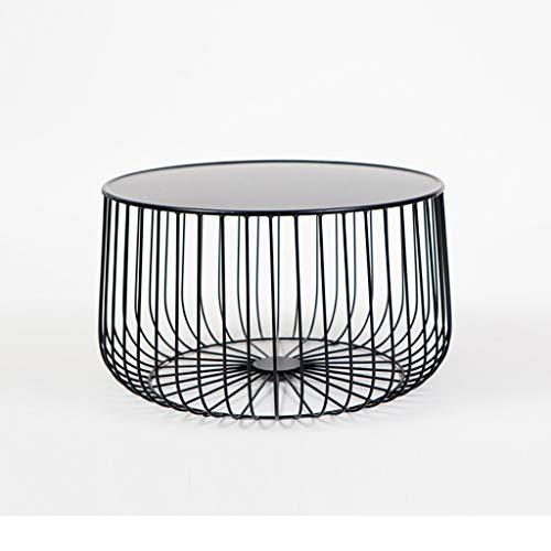 table basse Round Iron art moderne salon simple chevet canapé coin (taille : 60 * 35cm)