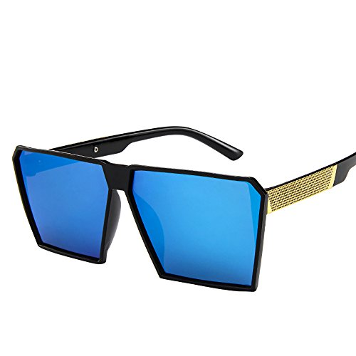 NINGSANJIN Sonnenbrille Mode Frauen Herren übergroße quadratische Sonnenbrille Vintage Retro Sonnenbrille B