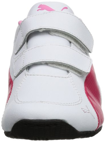 Puma  Drift Cat 5 L V Kids, basket mixte enfant Blanc - Weiß (white-virtual pink-sachet pink 03)