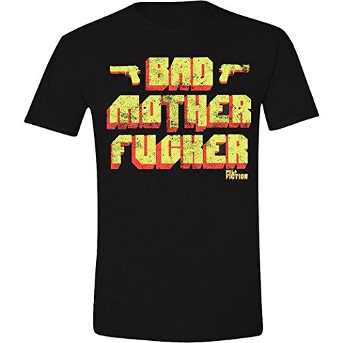Pulp Fiction - Bad Mother F***Er, T-Shirt uomo, Schwarz - Schwarz, Large