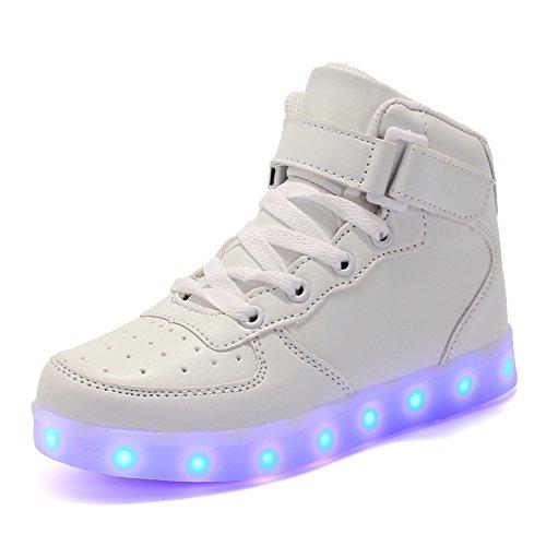 ByBetty-Adultos-Zapatillas-LED-Mujer-Hombre-7-Colores-Zapatillas-con-Luces-LED-EU-38-46