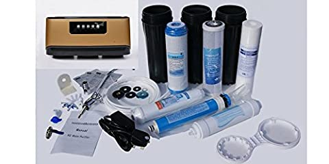 5-Stage Under-Sink Reverse Osmosis Home Drinking Water Filtration System with booster pump LED and tap. Easy DIY.75 GPD