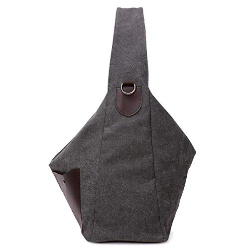 Stilvolle Unisex Leinwand Große Kapazität Freizeit All-Spiel Reisetasche Grey