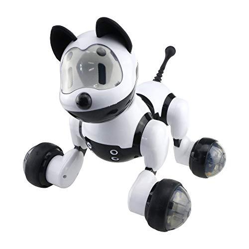 KYOKIM Gatto Domestico Elettronico di Controllo Vocale, Gesto Senso Cantare E Ballare Il Membro del Robot della Famiglia Gatto,Black
