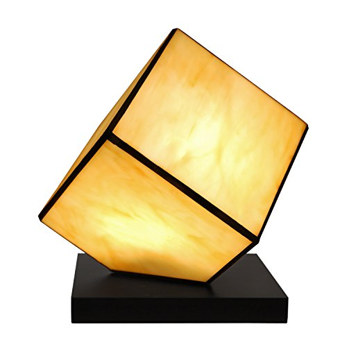 Arte Dal Mondo Cube Tischlampe Würfel glas im tiffany-stil handwerk TC08137