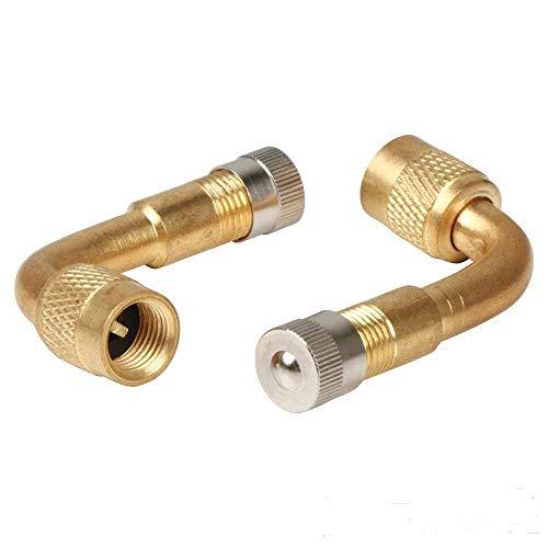 moto voiture KIMISS Lot de 5 rallonges de valve de pneu en cuivre /à 90 degr/és pour valve universelle pour voiture v/élo