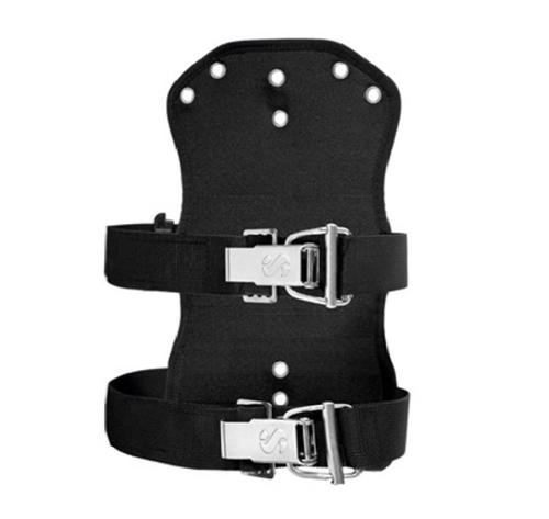 Zwei Backplates (Scubapro Soft Travel Backplate fürTEK Harness System. incl. 2 x Super Cinch Flas -)