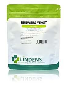 Lindens Compresse di lievito di birra da 300 mg | 500 Confezione | Fonte naturale di vitamine e micronutrienti e non deamarizzato per ottenere il massimo nutrimento