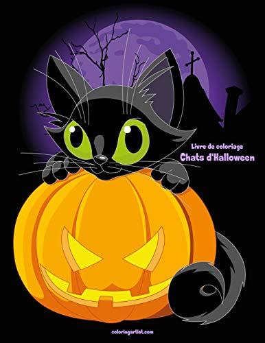 Livre de coloriage Chats d'Halloween 1