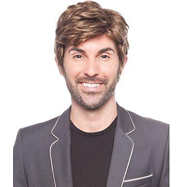 HJL-l'Europe et les ¨¦tats-Unis le nouvel homme brun dor¨¦ de Perruques Fashion vente chaude. , brown