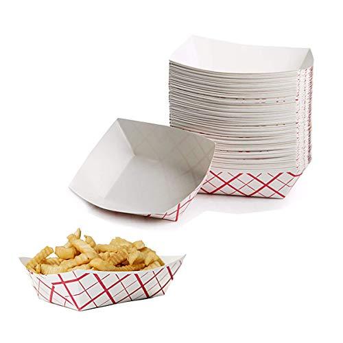 Papier Hot Dog Nourriture Plateau, 150 durable Graisse Proof Paperboard Nachos Carnaval Accords support de service Bateau Panier de supports pour frites, pop-corn ou Snacks par Upper Midland Products