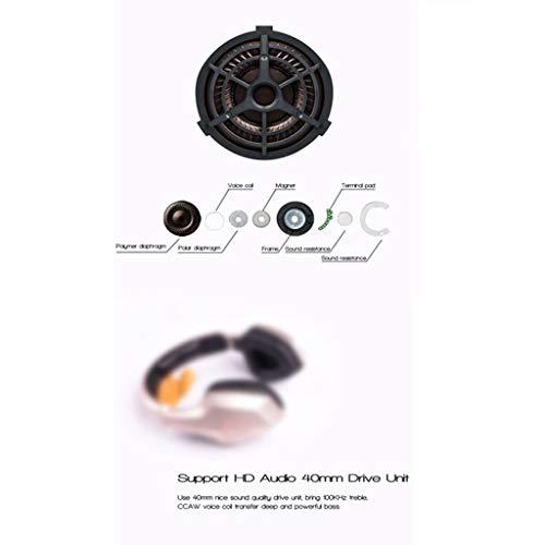 ALIKEEY Kabellose Kopfhörer Leichter Kopf S33, der drahtlosen Bluetooth mit eingebautem Mikrofon trägt Ohrhörer für iPhone, iPad, Samsung, Huawei, xiaomi und mehr - 4