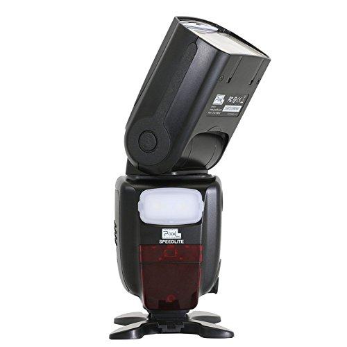 PIXEL X900N 1/8000s HSS TTL drahtlose Steuerung Flash Speedlite + Lithium-Akku für Nikon DSLR-Kameras mit LED-Licht