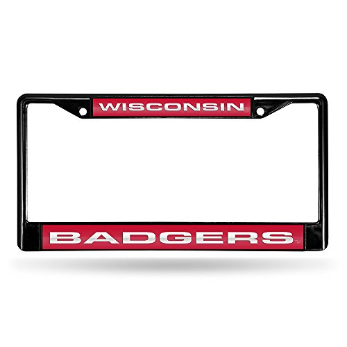 Unbekannt wisconsin-badgers-laser-black-license-plate-frame Wisconsin Badgers-laser